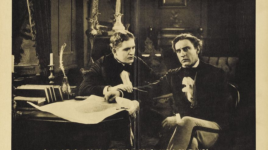 Fotograma de la película 'Doctor Jekyll y Míster Hyde' de 1920.