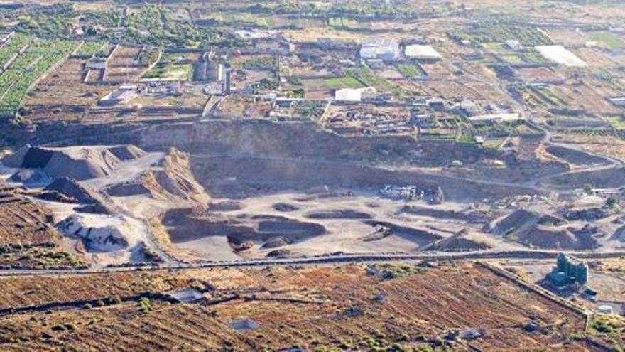 Extracción de áridos en el barranco de Güímar