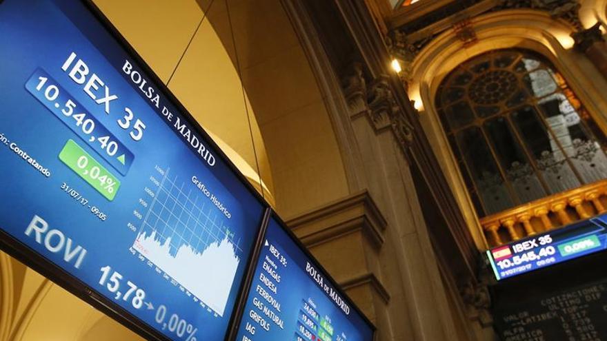 El IBEX abre la última sesión de julio con un alza del 0,34 %