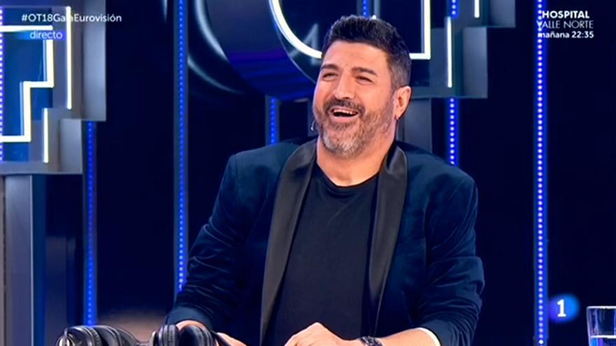 Tony Aguilar, en la gala OT Eurovisión 2019