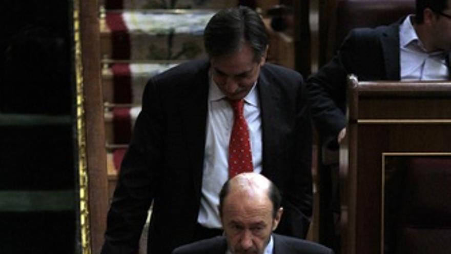 Soraya Rodríguez, Alfredo Pérez Rubalcaba Y Valeriano Gómez