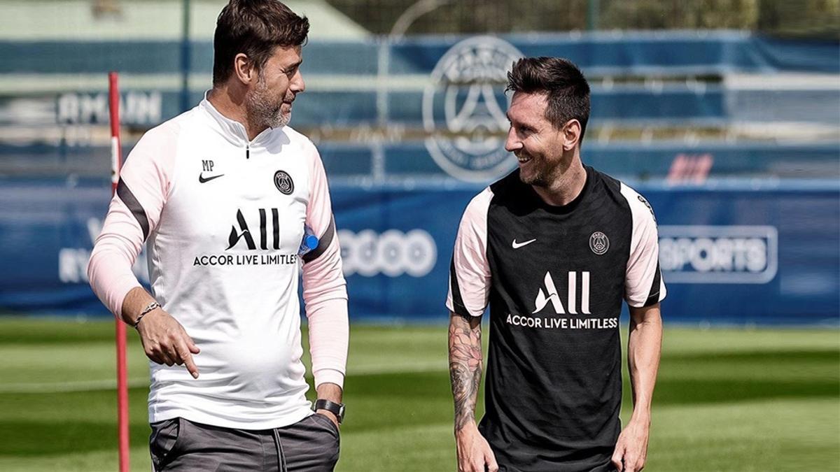 Mauricio Pochettino, DT del PSG, ilusionado con Messi.