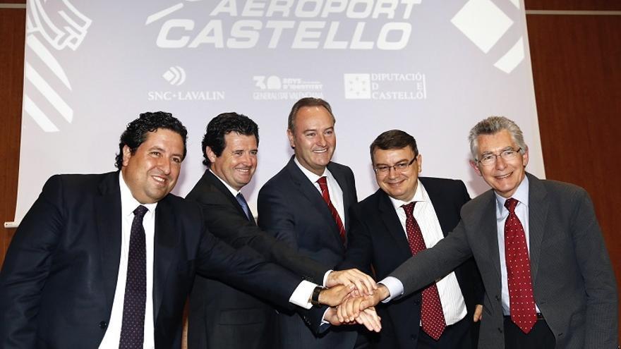 Imagen del acuerdo para los primeros vuelos en el Aeropuerto de Castellón