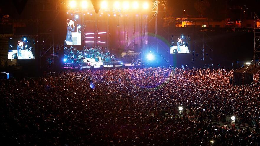 Imagen del concierto ofrecido por Marc Anthony en Arona el pasado 10 de julio.