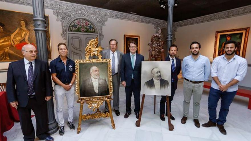 El Museo Casa Lis recibe un retrato de su creador, cien años después de su salida
