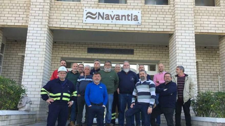 Los componentes del comité de empresa de Navantia Puerto Real.