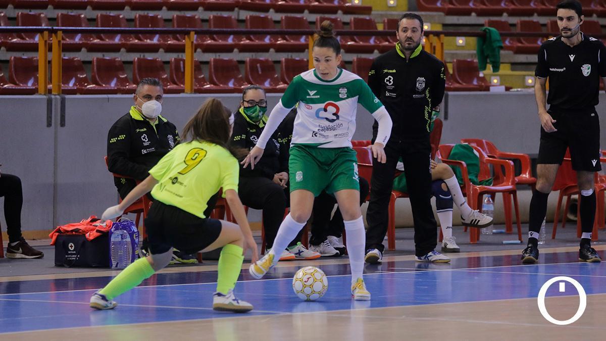 Inma Sojo durante un encuentro con el Deportivo Córdoba