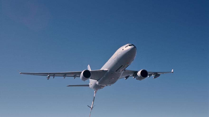 Un avión 'tanquero' de Airbus Military pierde la pértiga de repostaje cuando sobrevolaba Cáceres