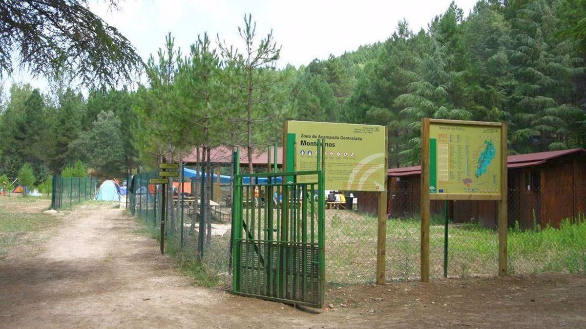 Una zona de acampada.