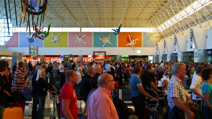 Colas en el Aeropuerto de Gran Canaria.