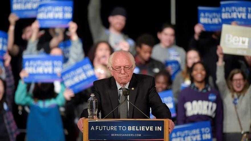 El candidato en las primarias demócratas Bernie Sanders.