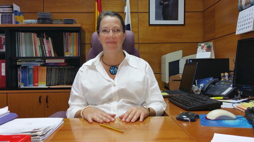 Teresa Rivas es jefa de la Oficina de Tráfico en La Palma. Foto: LUZ RODRÍGUEZ.