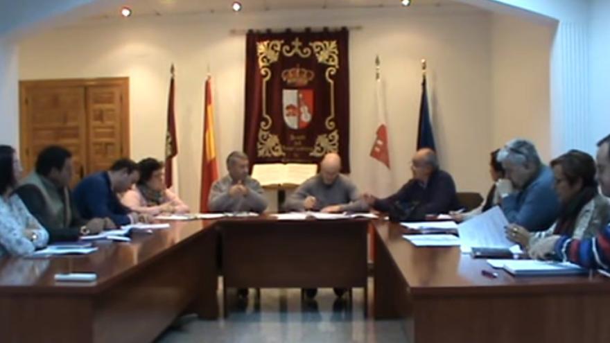 Captura del vídeo del pleno del Ayuntamiento de Cuenca