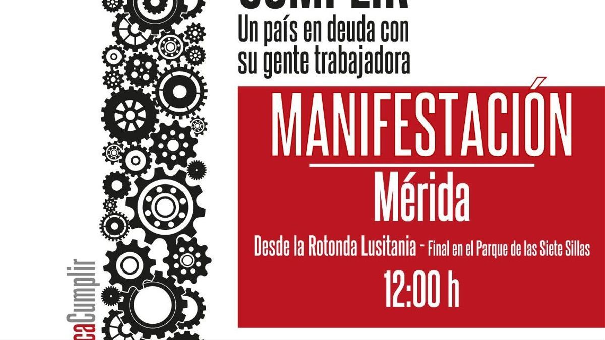 Cartel 1 Mayo Extremadura