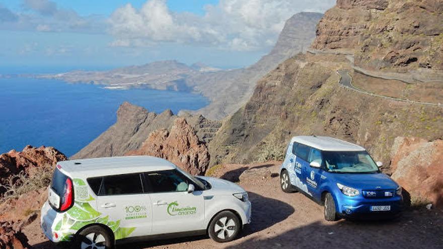 Los coches eléctricos que completaron la vuelta a Gran Canaria sin recargar.