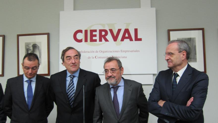 Rosell en la junta de la patronal valenciana.