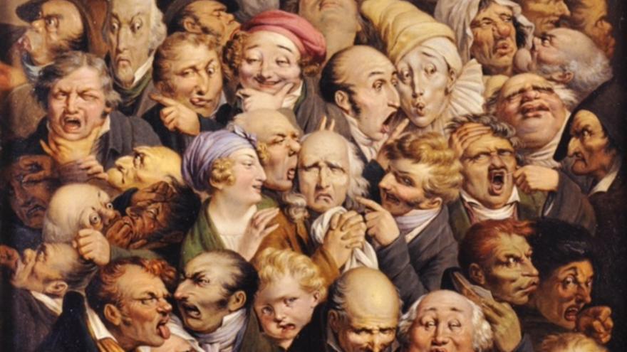 'Reunión de 35 cabezas de expresión', de Louis-Léopold Boilly