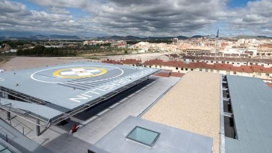 El helipuerto del Hospital de Hellín, uno de los lugares propuestos por la Film Commission