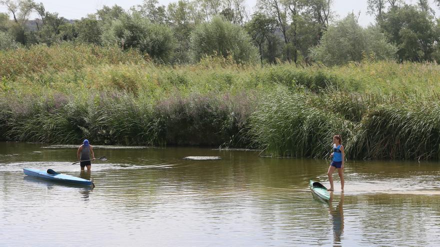 El río Tajo, a su paso por Talavera