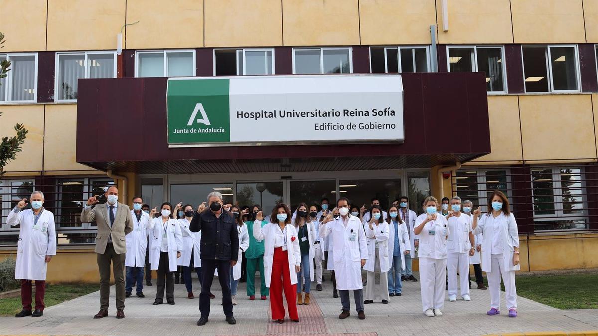 Celebración del Día Mundial del Riñón 2021 en el Hospital Reina Sofía.