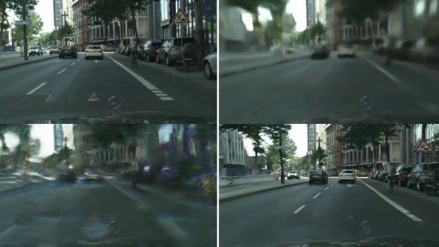 Un vídeo real y el algoritmo de Nvidia