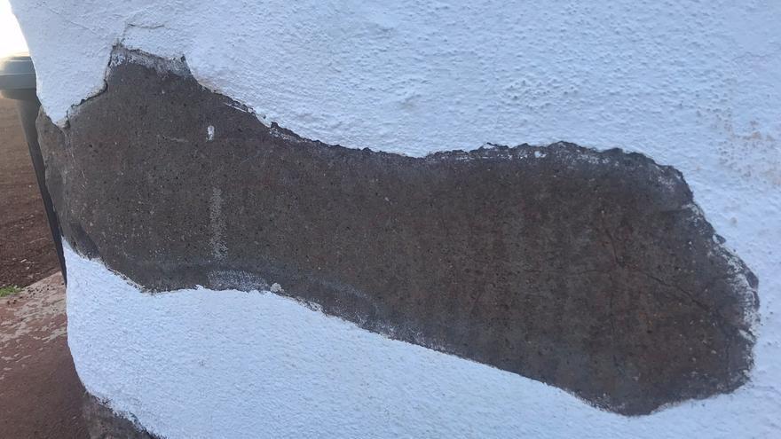 Grabado rupestre en la Casa del Baile de Garafía.