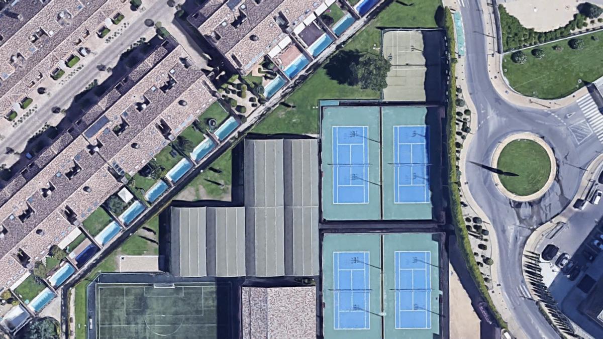 Imagen aérea de la vivienda adquirida por Carlos Fabra en Pozuelo de Alarcón (Madrid).