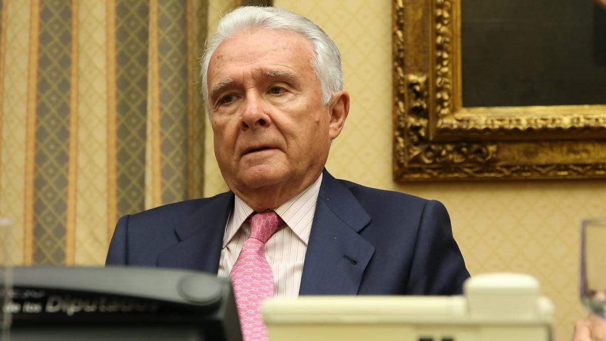 El empresario Alfonso García-Pozuelo Asins, de Constructora Hispánica, en la Comisión de Investigación a la presunta financiación ilegal del PP en el Congreso.