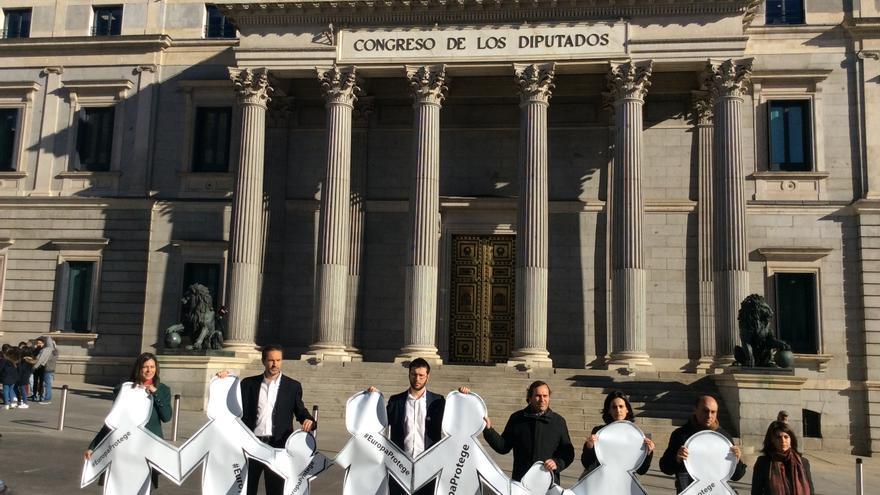 Las organizaciones de infancia piden en el Congreso un plan de protección europeo. Ángel González / AeA