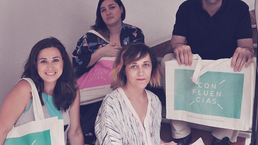 Presentación del ciclo con Miriam Díaz Noemí Méndez Carmen Quijano y Marcos Díez.