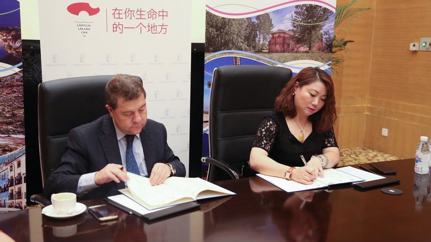 Firma del acuerdo en China