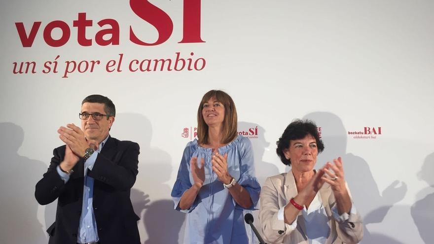 """Patxi López anima a votar """"con la cabeza y la razón"""" a """"políticos de verdad"""" y no a """"aventureros sin principios"""""""