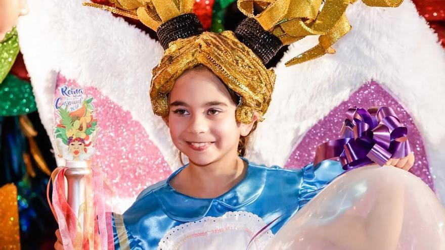 Adriana Medina Reina Infantil del Carnaval de Los Llanos de Aridane.