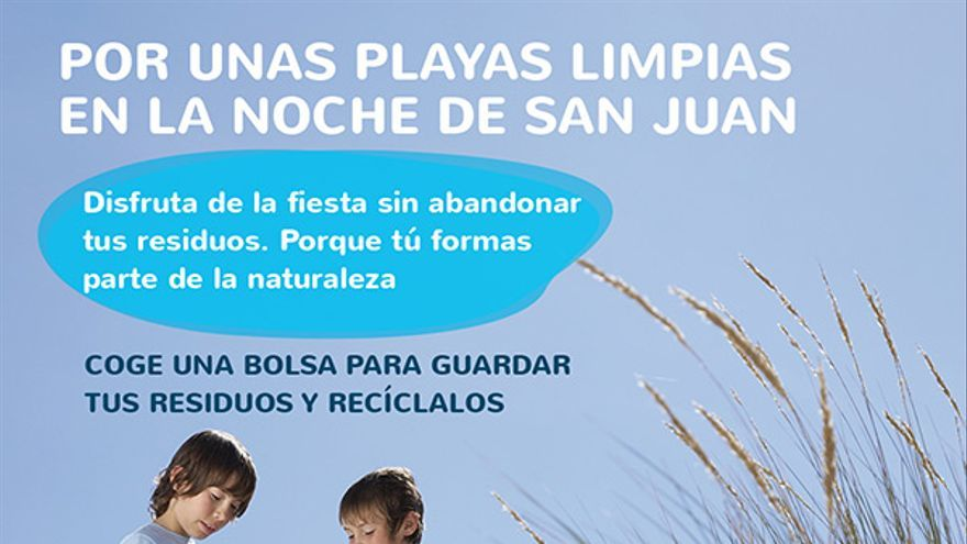 """Campaña """"Por unas Playas limpias en la noche de San Juan"""" en Gran Canaria."""