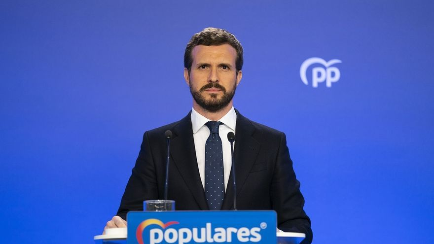 """Casado dice que """"no se entiende el triunfalismo del Gobierno"""" con los """"pésimos"""" datos de paro de junio"""