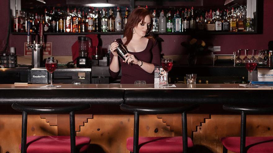 En Sheri's Ranch, hay un bar en el que los asistentes al CES pueden disfrutar de un cóctel