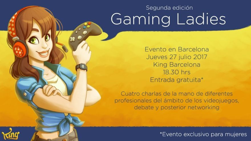 Cartel de la segunda edición de Gaming Ladies