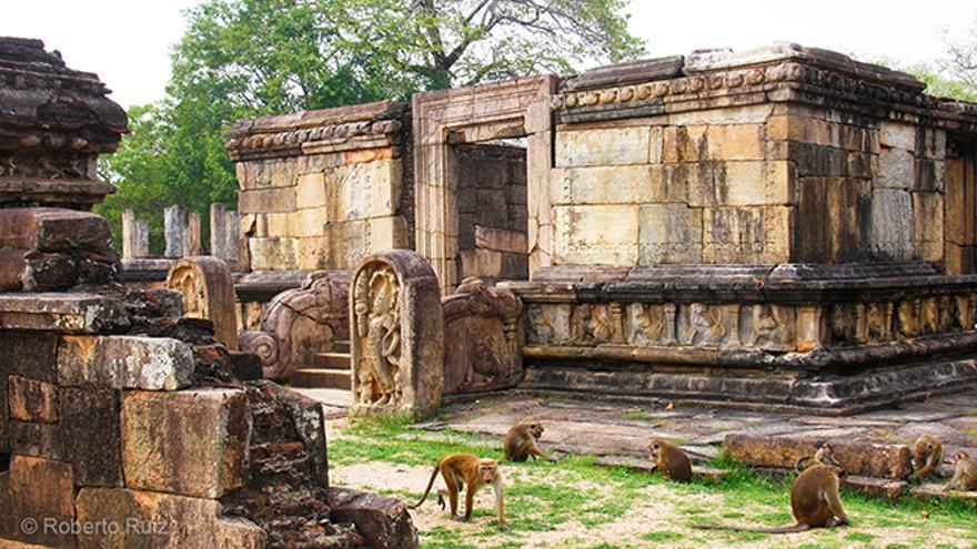 Ruinas de Polonnaruwa, en Sri Lanka