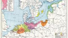 Mapa de 1400 de la Liga Hanseática.