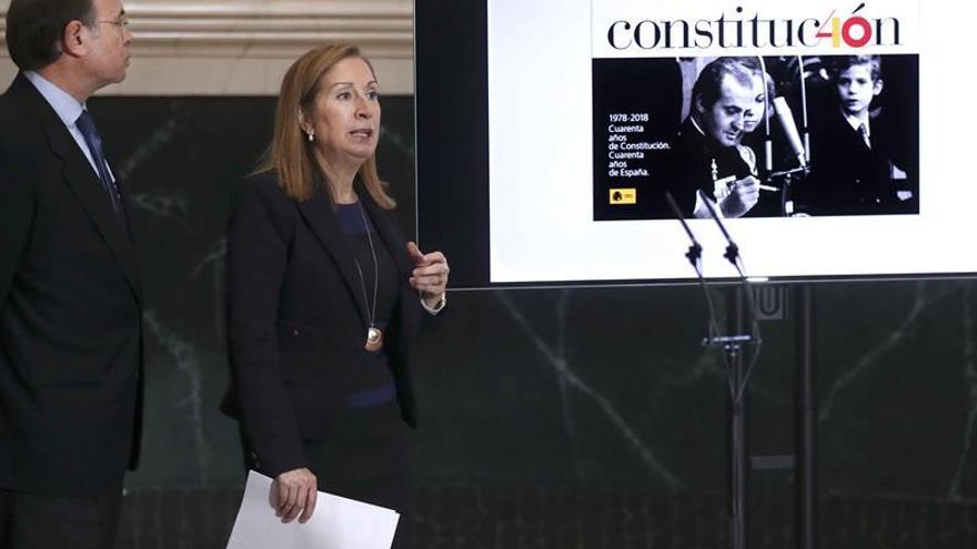 Las Cortes presentan el logotipo del 40 aniversario de la Constitución