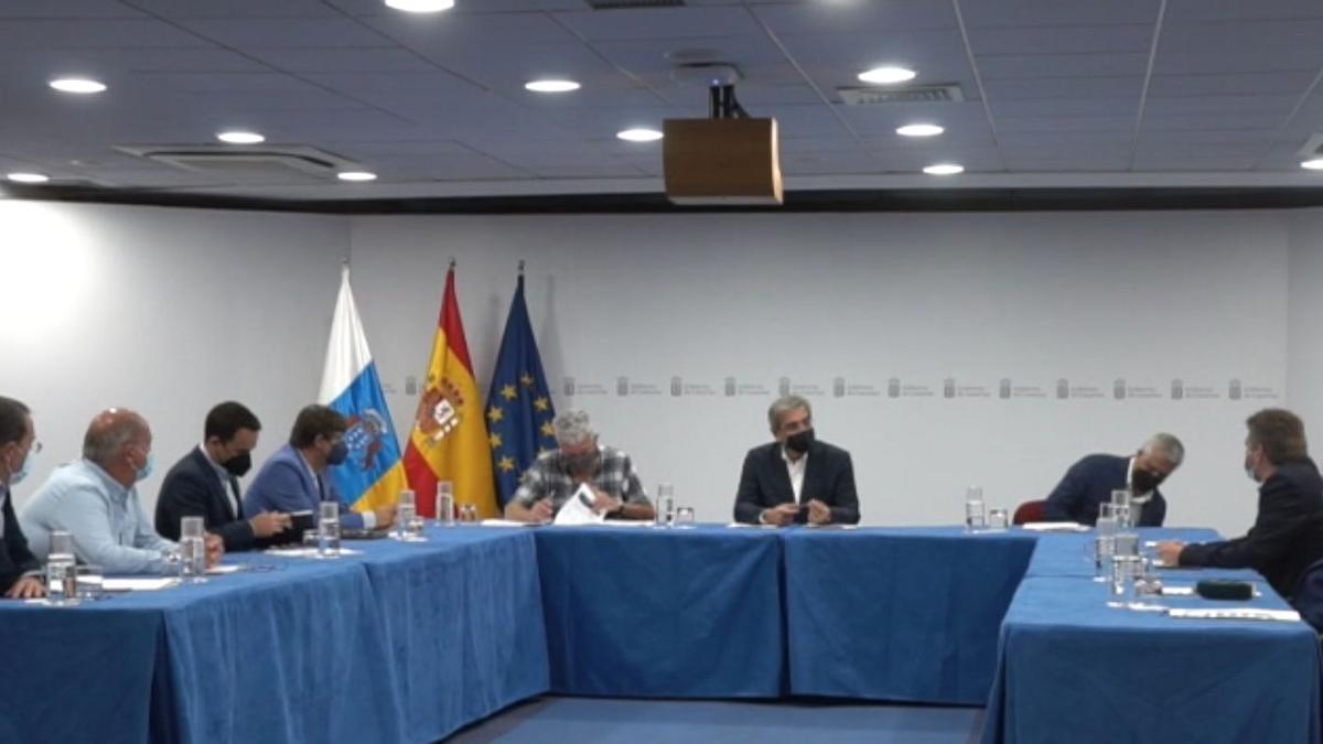 Reunión entre Asprocan y el vicepresidente del Gobierno de Canarias, Román Rodríguez.