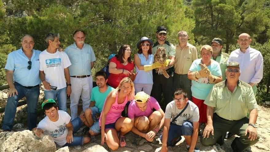 Junta libera a tres cernícalos y un búho real en el Parque Natural Sierra María-Los Vélez
