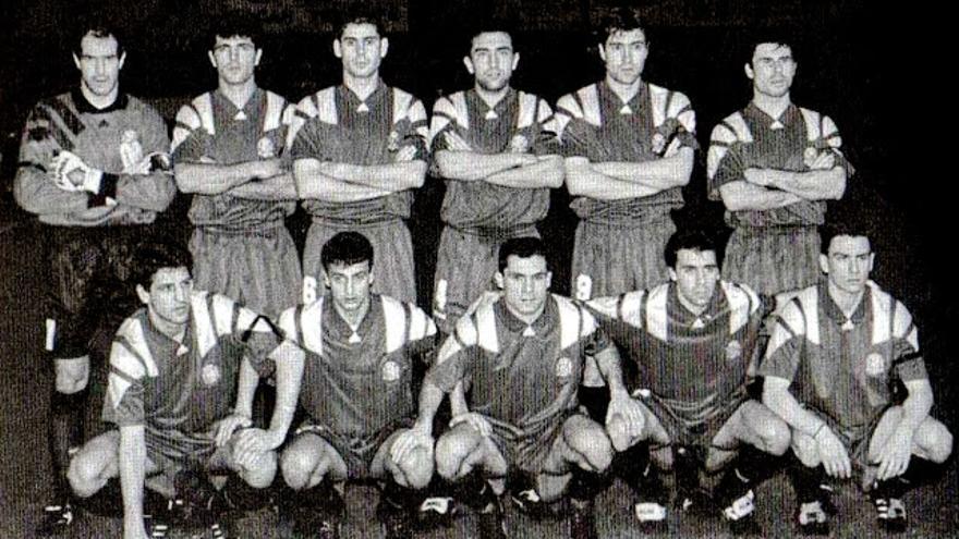 Equipo de España que jugó en el Heliodoro el 9 de febrero de 1994.