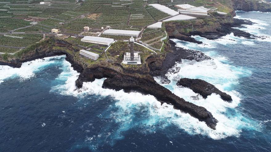 Vista aérea del Faro de Punta Cumplida.