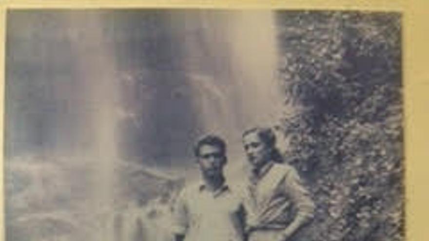 Pancho con su mujer Fina.