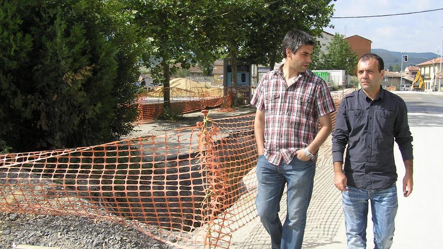 Miguel Acedo (derecha), en Arechavaleta.