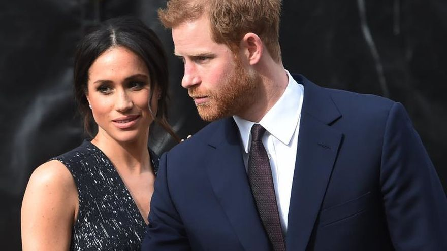 El principe británico Harry y la duquesa de Sussex, Meghan Markle