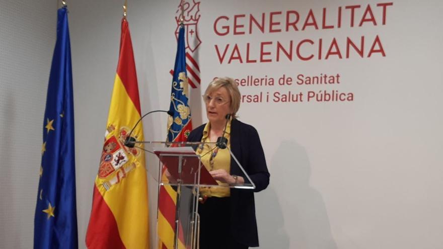 La consellera de Sanidad, Ana Barceló, comparece en rueda de prensa.