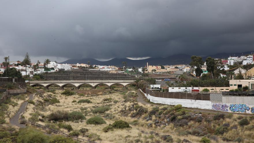 Cielos nubosos en Telde (Gran Canaria).