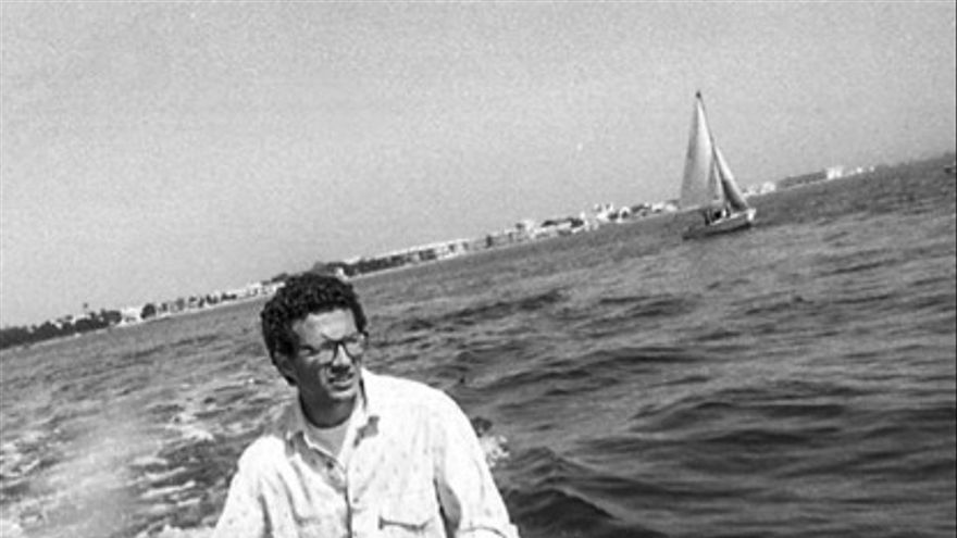 Fulgencio M. Lax en 1988 en el Mar Menor. Escuela de vela Socaire / Lili González